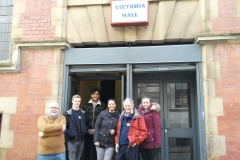 Volunteers at the entrace of Victoria Hall - The Sunday Centre - 19-March-2017